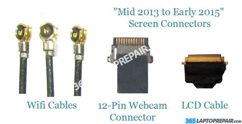 Macbook pro retina screen replacement parts mid 2013 early 2015 retina screen connectors sciox Image collections