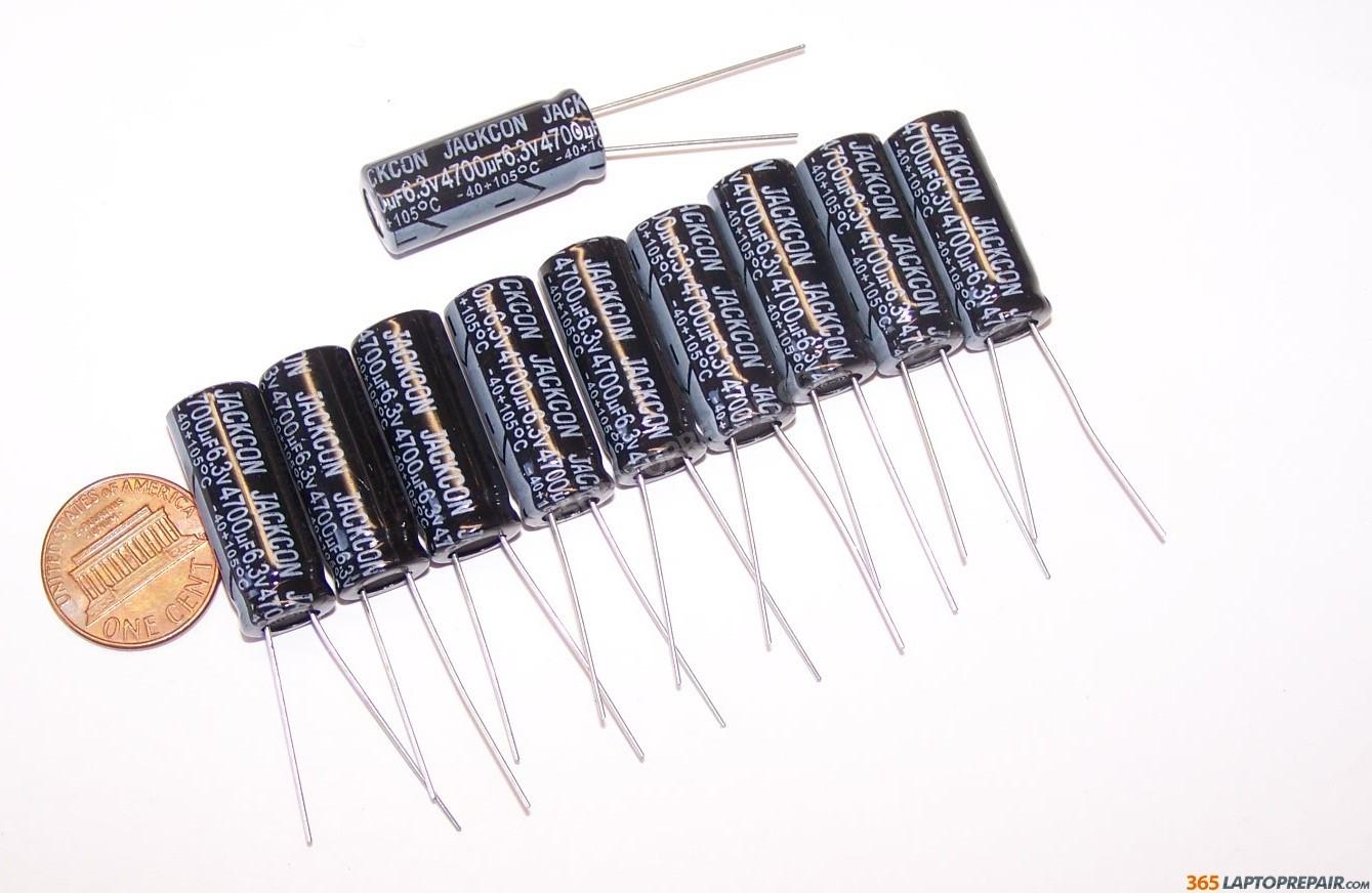 New Jackcon Electrolytic Radial Capacitor 4700uf 6 3v 105