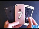 iPhone 7 with a cracked screen