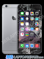 iPhone 6 with a cracked screen